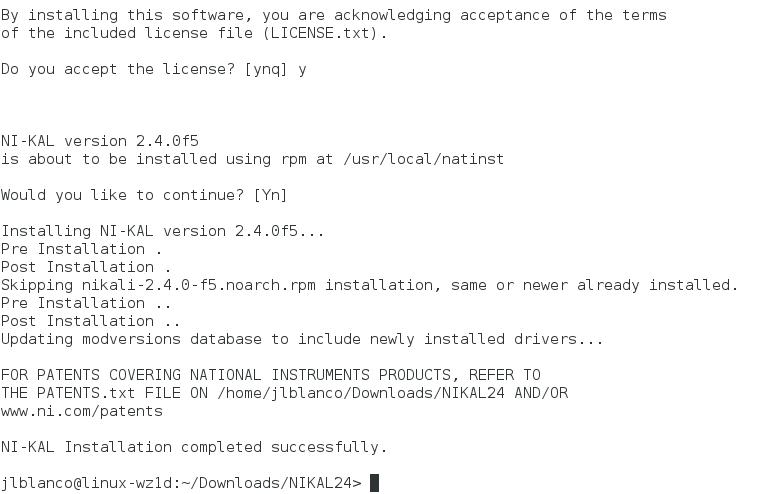 NIKAL_install