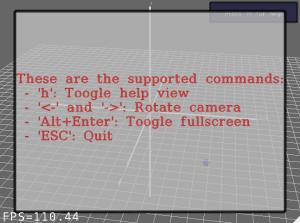 Screenshot-Example of 3D Scene Visualization - MRPT