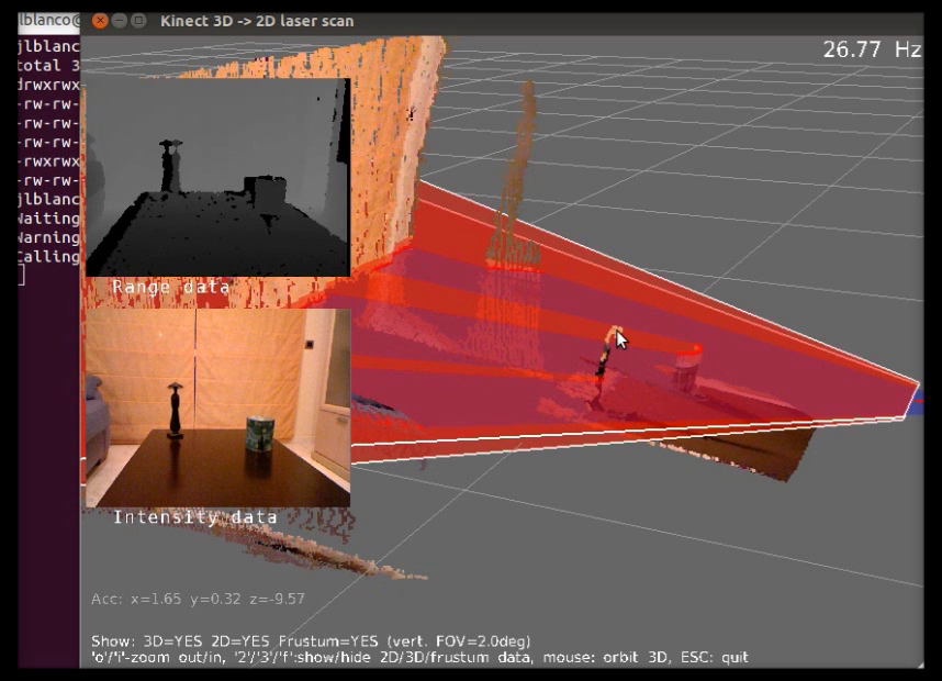 Example: kinect-to-2d-laser-demo