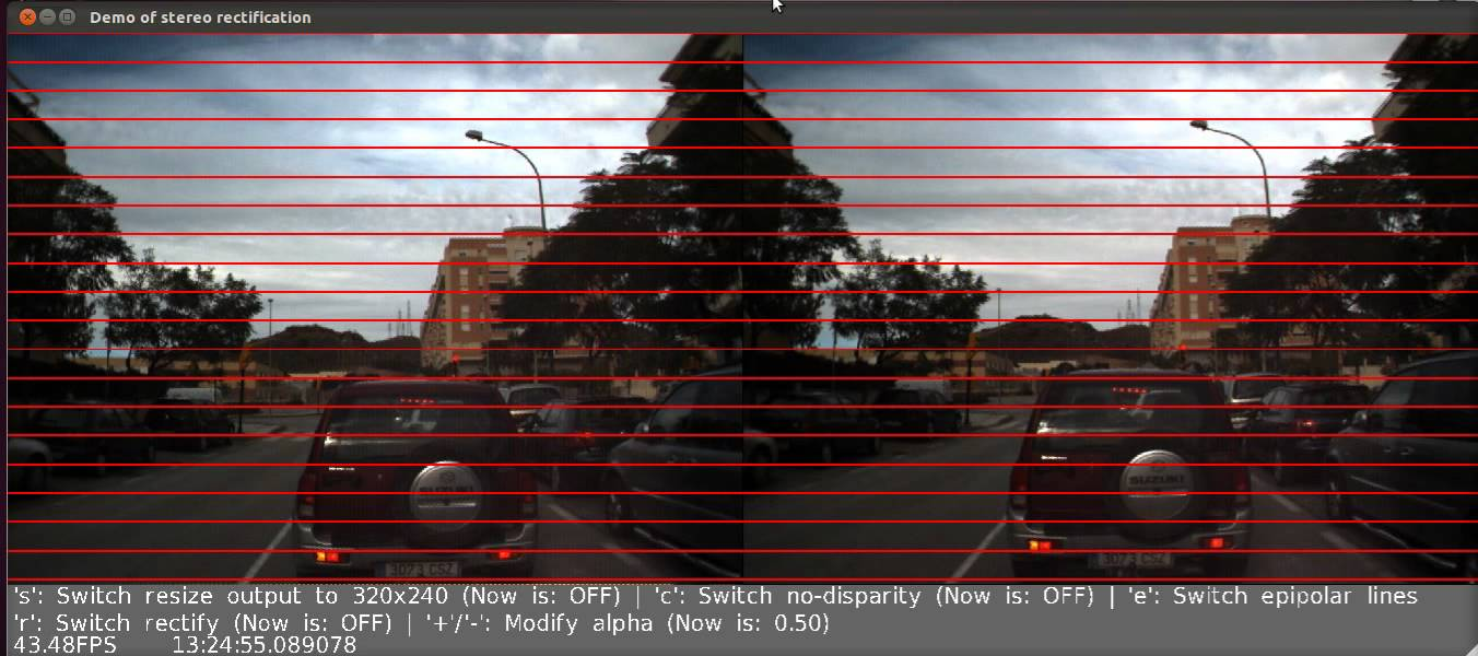 Rectifying stereo images